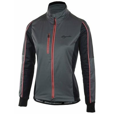 Powerno toplo dame zima jakna Rogelli SJAJ z pomembno odsevni plošče, črna in siva odsevna roza 010.370, Rogelli