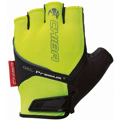 ciklo rokavice Chiba GEL PREMIUM z gel dlani, odsev rumena 30117.03-1, Chiba