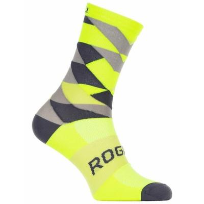 Oblikovanje funkcishelna nogavice Rogelli LESTVICA 14, odsevno rumeno-črno-siva 007.152, Rogelli