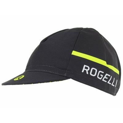 Kolesarska kapa pod čelado Rogelli HERO, črno odsevna rumena 009.971, Rogelli