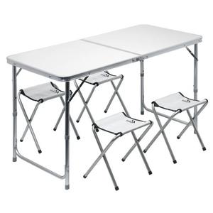 miza kampiranje zložljiva Cattara DOUBLE teleskop. siva + 4x majhen stol, Cattara