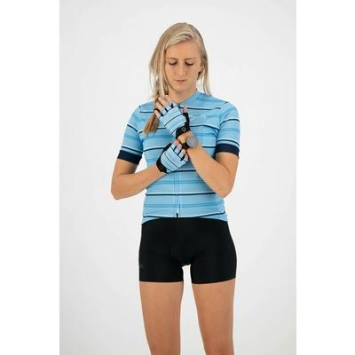 ženske rokavice na krog Rogelli STRIPE, svetloba modro-modra 010.620, Rogelli