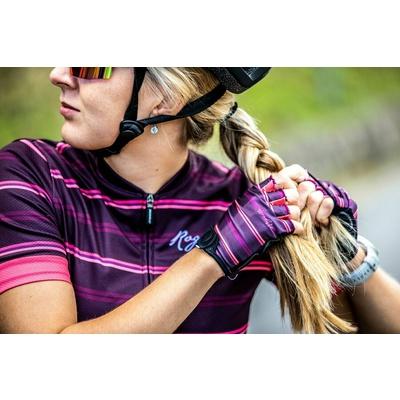 ženske rokavice na krog Rogelli STRIPE, bordo-roza 010.622, Rogelli