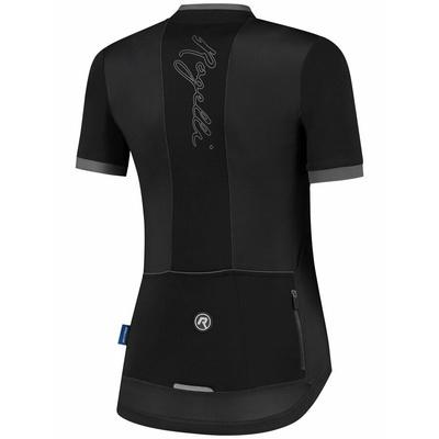 Ženska zračna kolesarska majica Rogelli ESSENTIAL s kratkimi rokavi, črna in siva 010.194, Rogelli