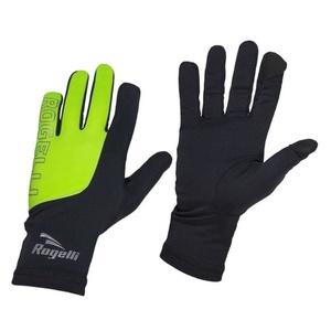 moški tek na smučeh zima rokavice Rogelli Dotaknite se, 890.002. črno-odsevni rumena, Rogelli