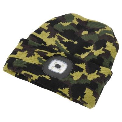 klobuk ARMY z LED svetilka Cattara USB polnjenje, Cattara