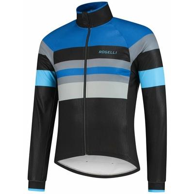 Ultra lahka kolesarji jakna Rogelli PEAK, črno-modro-siva 003.035, Rogelli