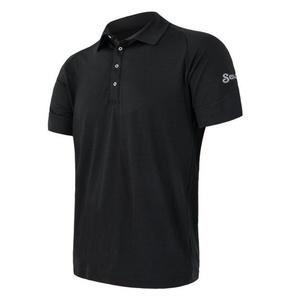 moški pol majica Sensor Merino Aktivno, črna 19100002, Sensor