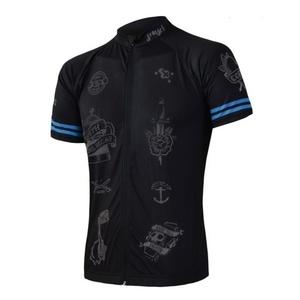 moški kolesarjenje majica Sensor CYKLO Tattoo kr.rukáv celozip črna 19100019, Sensor