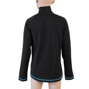 Otroci majica Sensor Thermo dl.rukáv zip črno / ufo, Sensor