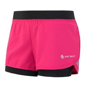 ženske tek na smučeh kratke hlače Sensor TRAIL roza / črna 19100009, Sensor