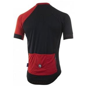kolesarjenje majica RogelliCONTENTO iz gladko material, črno-rdeča 001.084., Rogelli