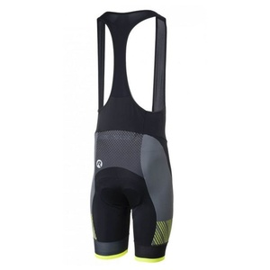 ciklo kratke hlače Rogelli RITMO z gel podloga, črno-odsevni rumena, Rogelli