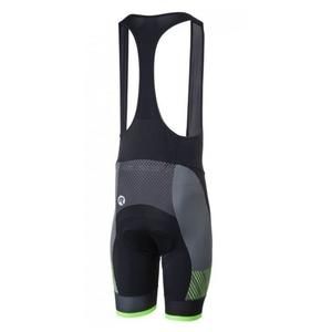 ciklo kratke hlače Rogelli RITMO z gel podloga, črno-odsevni zelena 002.264., Rogelli