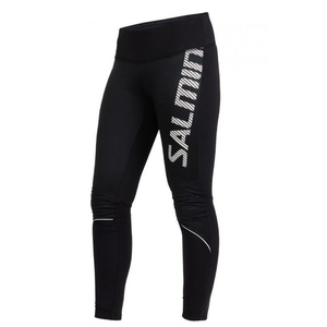 tek hlače Salming toplotna veter hlačne nogavice ženske črna, Salming