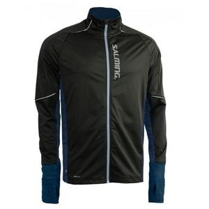 jakna Salming toplotna veter Jacket moški Black / Blue melange, Salming
