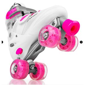 Spokey BUFF treking skate urejeno, ABEC 5, belo-roza, vel. 39-42, Spokey