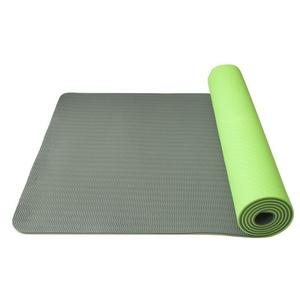 pranje na joga Joga Mat double layer, material TPE zelena / siva, Yate