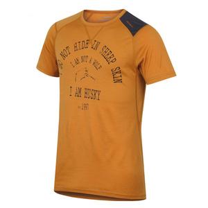 moški merino majica Husky Wolf rjavo-oranžna, Husky