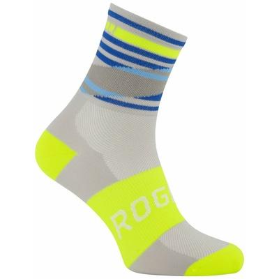 Oblikovanje funkcishelna nogavice Rogelli STRIPE, sivo-modro-odsevna rumena 007.204, Rogelli