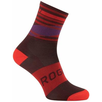 Oblikovanje funkcishelna nogavice Rogelli STRIPE, rdeče-bordo-vijolična 007.206, Rogelli