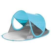 Spokey STRATUS Samopotrditev plaža paravan UV 40 190x120x90cm svetloba blue, Spokey