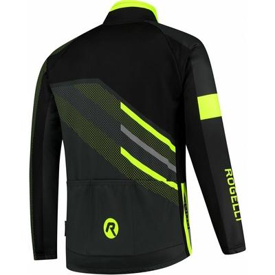 Membrana kolesarji jakna Rogelli TEAM 2.0, črna odsevna oranžna 003.970, Rogelli