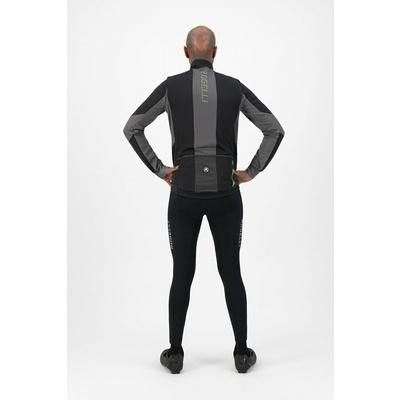Moški softshell kolesarska jakna Rogelli Pogumno črno-sivo-odsevna Rumena ROG351024, Rogelli