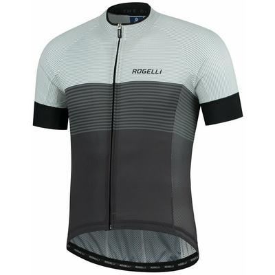 Aerodinamični konkurenčno cyklodresy Rogelli POSPEŠEK z kratko rokav, sivo-bela 001.117, Rogelli