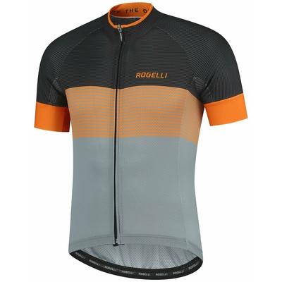 Aerodinamični konkurenčno cyklodresy Rogelli POSPEŠEK z kratko rokav, sivo-črno-oranžna 001.119, Rogelli