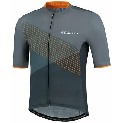 Aerodinamični cyklodresy Rogelli SPIKE z kratko rokav, sivo-oranžna 001.337, Rogelli