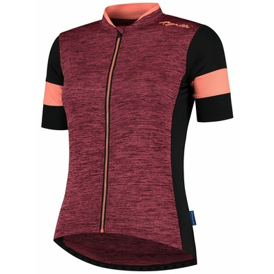 ženski cyklodresy Rogelli ČAR 2.0 z kratko rokav, bordo-črno-koralna 010.102, Rogelli