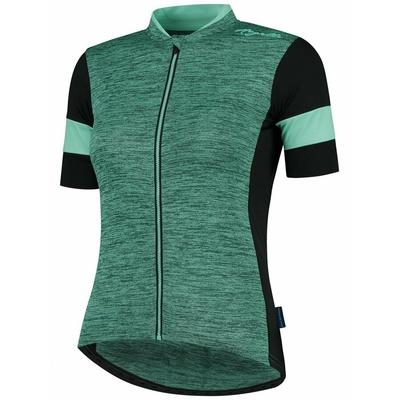 ženski cyklodresy Rogelli ČAR 2.0 z kratko rokav, turkizno-črna 010.103, Rogelli
