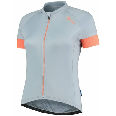 ženski kolesarjenje majica Rogelli MODESTA z kratko rokav, sivo-modro-koralna 010.109, Rogelli