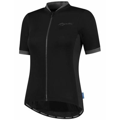 Ženska zračna kolesarska majica Rogelli ESSENTIAL s kratkimi rokavi, črna in siva 010.194