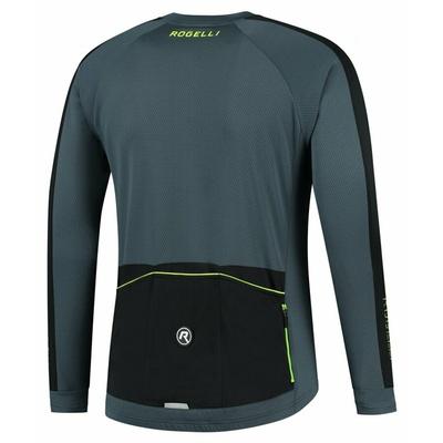 Moški kolesarski dres brez izolacije Rogelli Raziščite sivo-črno-odsevna Rumena ROG351002, Rogelli