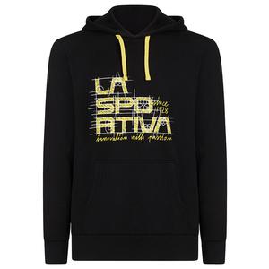 moški majica La Sportiva projekt kapuco črna / rumena, La Sportiva