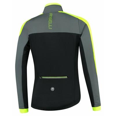 Moški zimska jakna Rogelli Freez vz črno-sivo-odsevna rumena ROG351020, Rogelli