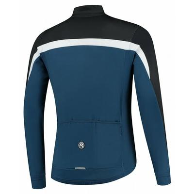 Moški toplo kolesarski dres Rogelli Seveda modro-črno-bela ROG351006, Rogelli