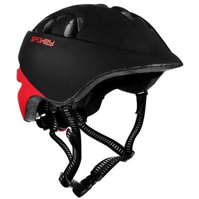 Otroška kolesarska čelada Spokey CHERUB 48-52 cm, Črna in rdeča, Spokey