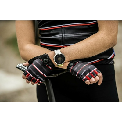 ženske rokavice na krog Rogelli STRIPE, črno-belo-rdeča 010.619, Rogelli
