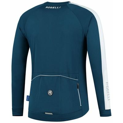 Moški kolesarski dres brez izolacije Rogelli Raziščite modro-bela ROG351001, Rogelli