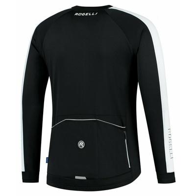 Moški kolesarski dres brez izolacije Rogelli Raziščite črna in bela ROG351000, Rogelli