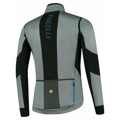 Moški softshell kolesarska jakna Rogelli Pogumno sivo-črno-modra ROG351023, Rogelli