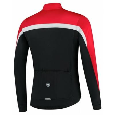 Moški toplo kolesarski dres Rogelli Seveda črno-rdeče-belo ROG351005, Rogelli