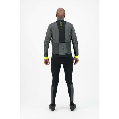 Moški močno toplo zimska jakna Rogelli Zdravo VIS s značilen odsevni plošče sivo odsevna Rumena ROG351031, Rogelli