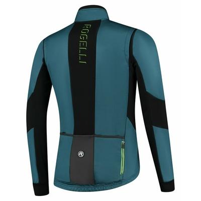 Moški softshell kolesarjenje jakna Rogelli Pogumno s dihajoče plošče, modro-črno-zelena ROG351026, Rogelli