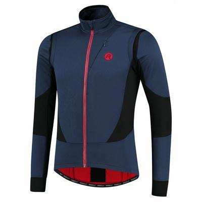 Moški softshell kolesarska jakna Rogelli Pogumno modro-črno-rdeče ROG351025, Rogelli