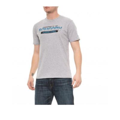 Moška majica Saucony Moški Ra Grafična majica / Heather siva