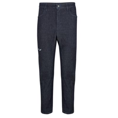 Moške hlače Salewa Pez AlpineWool modra kavbojke 28116-8600